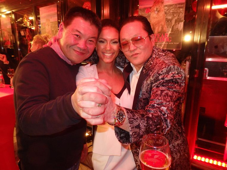 Johnny Yip, broer van Won, Cleopatra en haar man Michael Wong, van Royal Dragon Wodka. 'Maar dat onthoud jij wel, hè.' Beeld Schuim