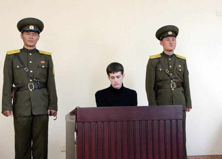 De Amerikaan Matthew Miller is veroordeeld tot zes jaar strafkamp. Beeld epa