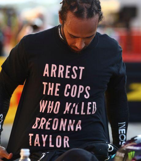 'Geen onderzoek naar T-shirt Lewis Hamilton'