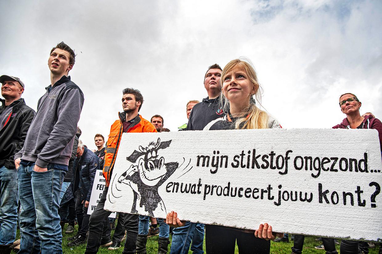 Boeren en hun kinderen demonstreerden dinsdag massaal op het Malieveld.  Beeld Guus Dubbelman / de Volkskrant