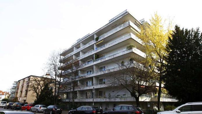 Het appartement in München waar de kunstverzameling werd ontdekt.