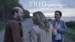 Matteo Simoni, Ruth Beeckmans en Bruno Vanden Broecke samen op het witte doek in 'Trio'
