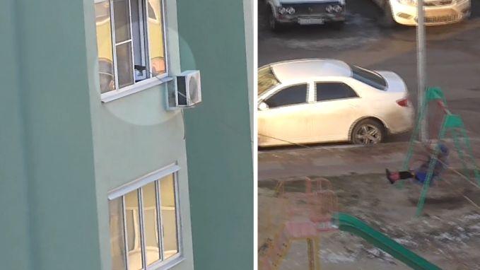 Lui of clever? Ouder trekt schommel vanop vierde verdieping
