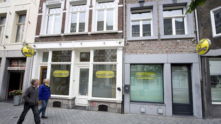 Een gesloten coffeeshop in Maastricht. Beeld anp