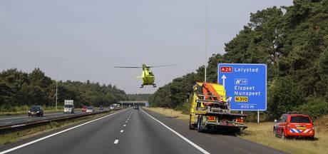 Ernstig ongeval op A28 bij Elspeet zorgt voor flinke file