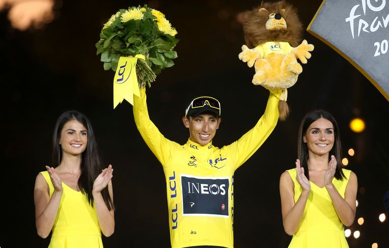 Tourwinnaar Egan Bernal. Beeld Getty Images