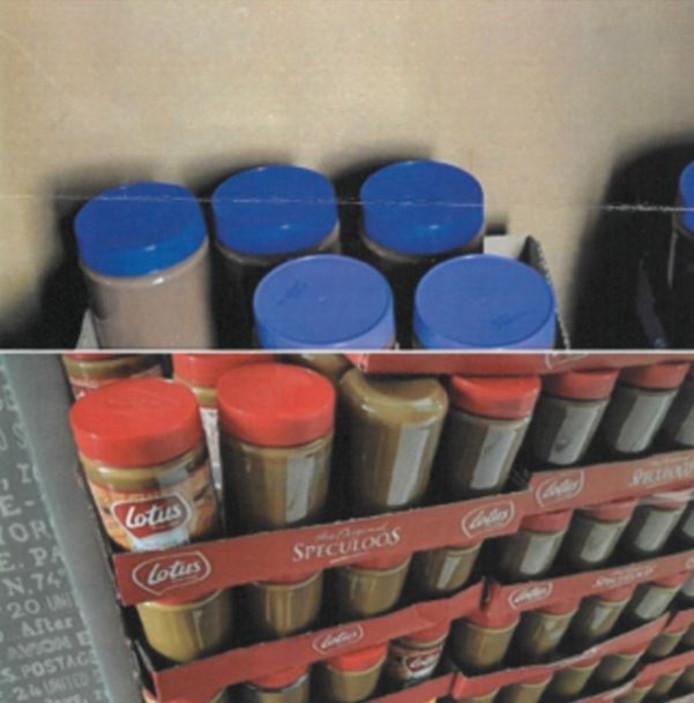 De potten zijn niet voorzien van een label
