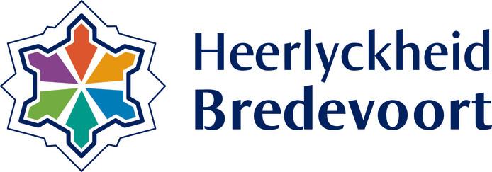 Het nieuwe beeldmerk van Bredevoort, met de zes gekleurde bastions in de plattegrond van de oude vesting.