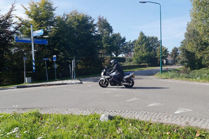 De splitsing Neerrijt-Hoge Rijt.