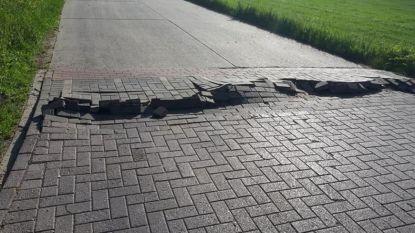 Na één dag mooi weer: wegdek kapot door hitte