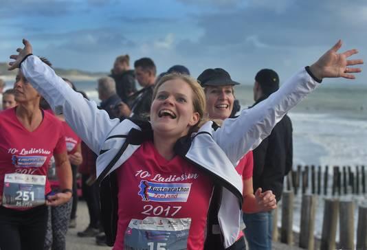 Mariska Koppejan uit Nieuwdorp deed mee aan de 5 kilometer.