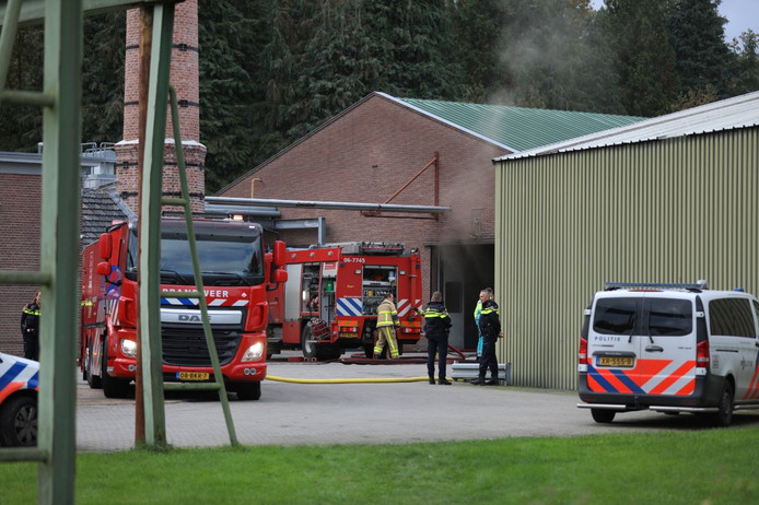 Brand bij houtbedrijf Krepel in Klarenbeek.