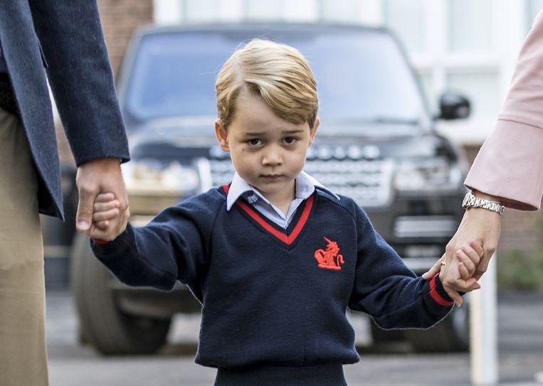 Prins George klaar voor zijn eerste schooldag op 7 september 2017.