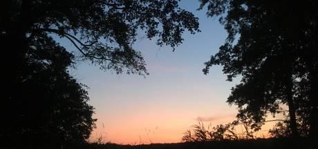Prachtige zonsopkomst in Brabant: hemel kleurt oranje op tropische dag