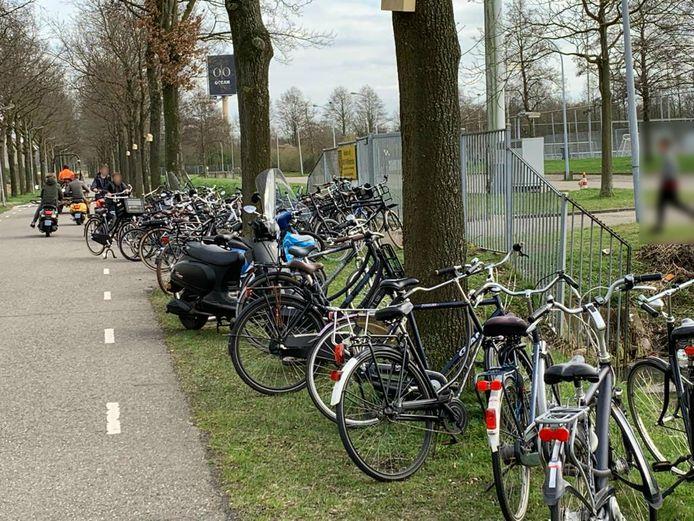 Jongeren waagden zich deze week toch op het afgesloten voetbalterrein van RKVV Wilhelmina in Den Bosch.