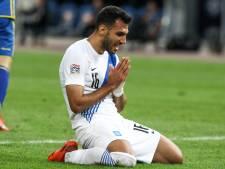 Vangelis Pavlidis laat een paar kansjes liggen bij de Grieken bij 0-0 gelijkspel