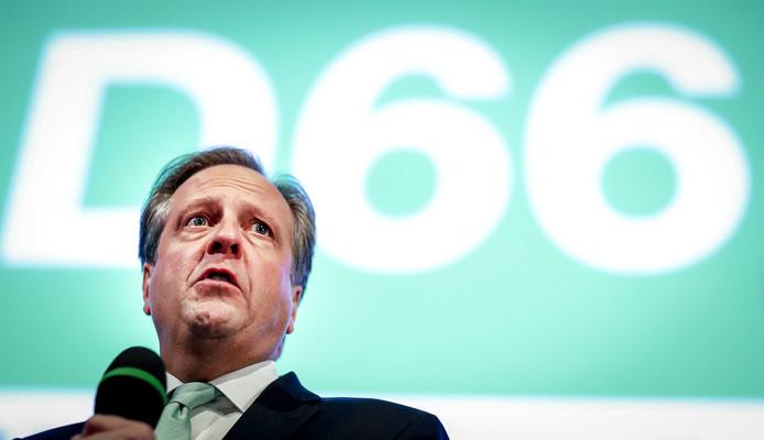 Alexander Pechtold van D66 tijdens de uitslagenavond van de gemeenteraadsverkiezingen.