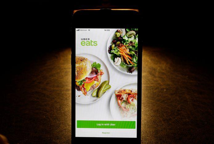 De Uber Eats-app.
