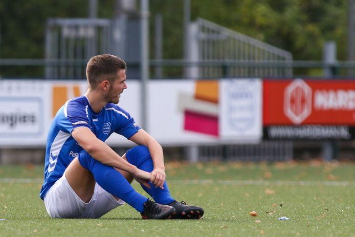 GVVV-middenvelder Mart de Jong na afloop van het duel