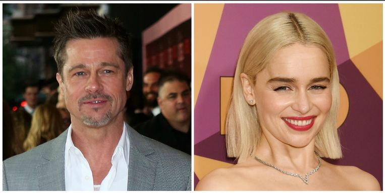 Brad Pitt en Emilia Clarke