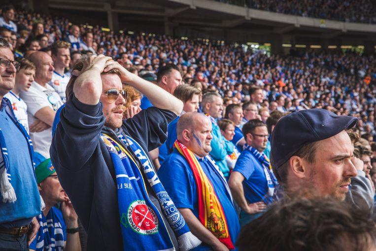 Teleurstelling in het stadion