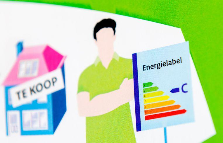 Een folder met uitleg over het energielabel voor woonhuizen.  Beeld ANP