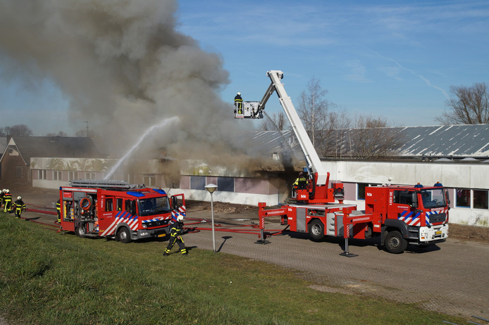 Grote brand in Woudrichem