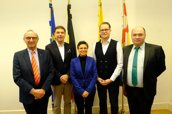 De burgemeesters van Beerse, Boom, Herenthout en Lier.