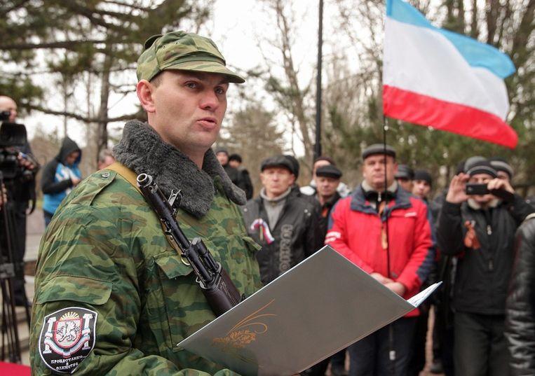 Pro-Russische Oekraïeners op de Krim Beeld EPA