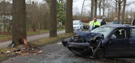 Forse schade aan auto door botsing op boom in Sint-Oedenrode