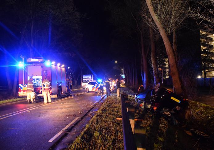 Het ongeval gebeurde vlak na de invoegstrook in de richting van Zelhem.