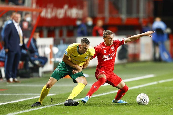 Lazaros Lamprou (rechts) is één van de spelers die nog wedstrijdritme te kort komt.
