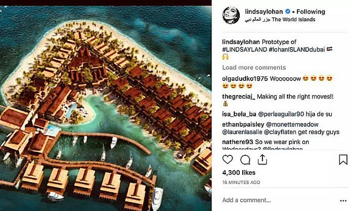 Le projet d'île à Dubaï