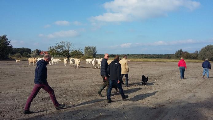 Een delegatie van de provincie bracht een bezoek aan natuurgebied Watergat II.