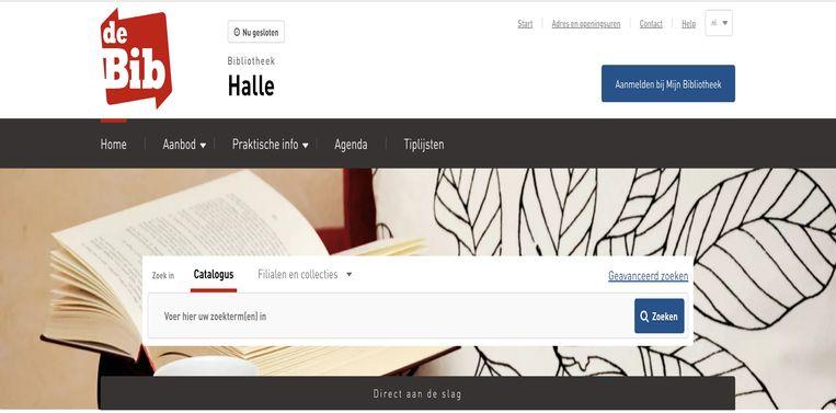 De nieuwe site van de Halse bibliotheek.