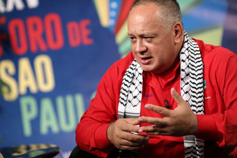 Diosdado Cabello tijdens een interview op 25 juli.