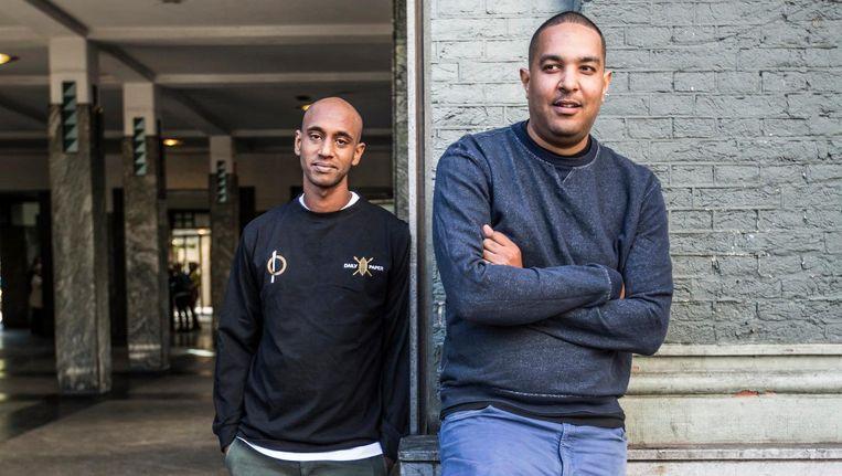 De oprichters van hiphopsite Puna.nl: Thomas Abera en Adai O'Bryan. Beeld Eva Plevier