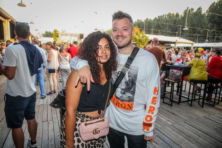 Gers Pardoel en zijn partner Sélina op Werchter