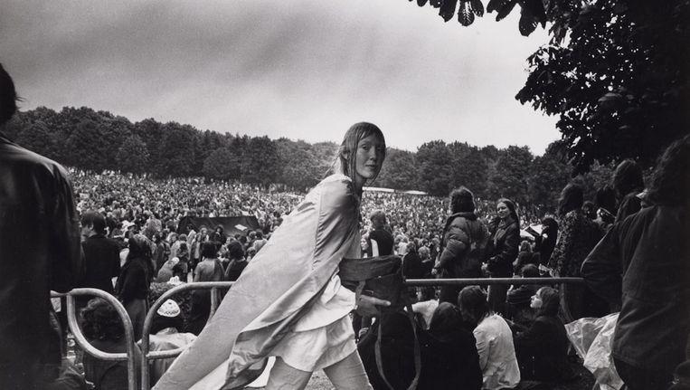 Popfestival in het Amsterdamse Bos, 26 juni 1971 Beeld Dolf Toussaint (Collectie Stadsarchief)