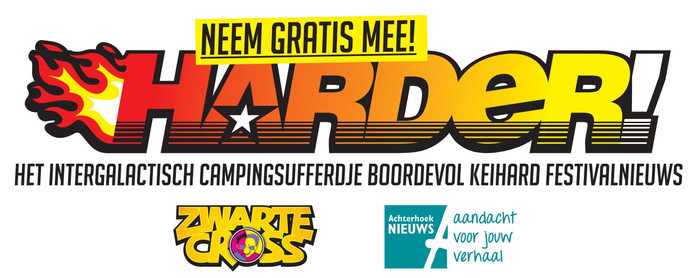 De Zwarte Cross-festivalkrant 'Harder!' is gratis.