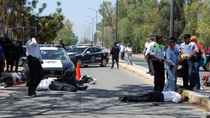 Zes agenten op straat doodgeschoten in Mexico