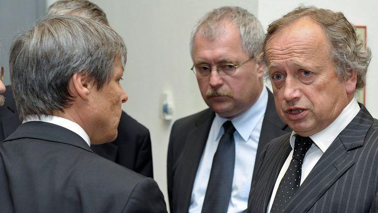 Henk Bleker met zijn Europese collega's. Beeld epa