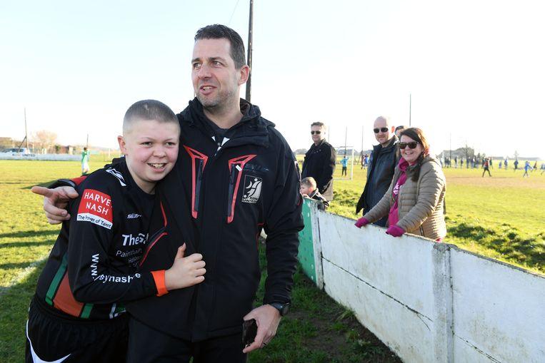 Karsten en papa Joeri, die toevallig ook trainer is.