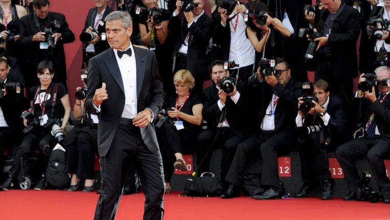 Acteur George Clooney bij het filmfestival van Venetië in 2011. Beeld ap