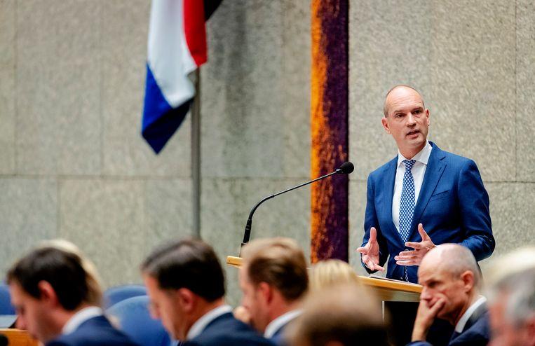 Gert-Jan Segers (50). Het ChristenUnie-Kamerlid is sinds vier jaar fractievoorzitter. Beeld Robin van Lonkhuijsen/ANP