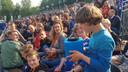 Fans mochten in de Catchbox vragen stellen aan YouTube'er Djuncan.