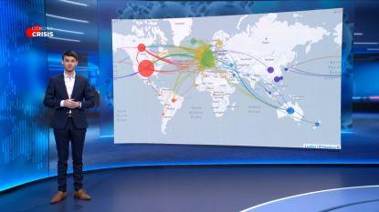 UITGELEGD: zo volgen wetenschappers de verspreiding van het coronavirus
