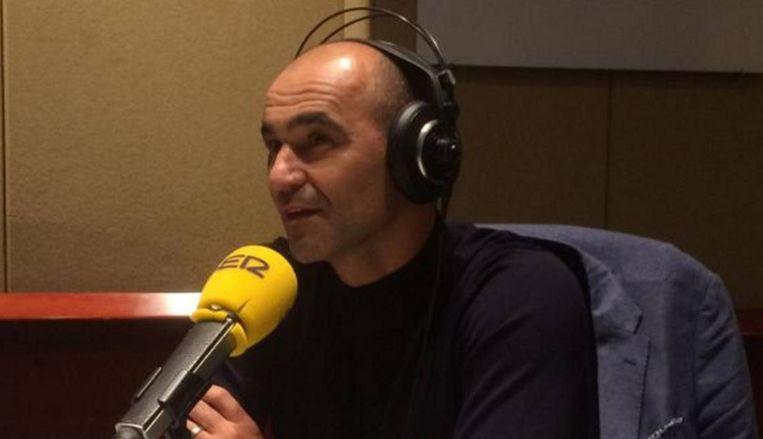 Roberto Martínez op de Spaanse radio.