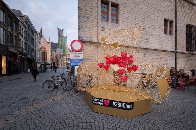 Valentijndsversiering in 2018 op de IJzerenleen.