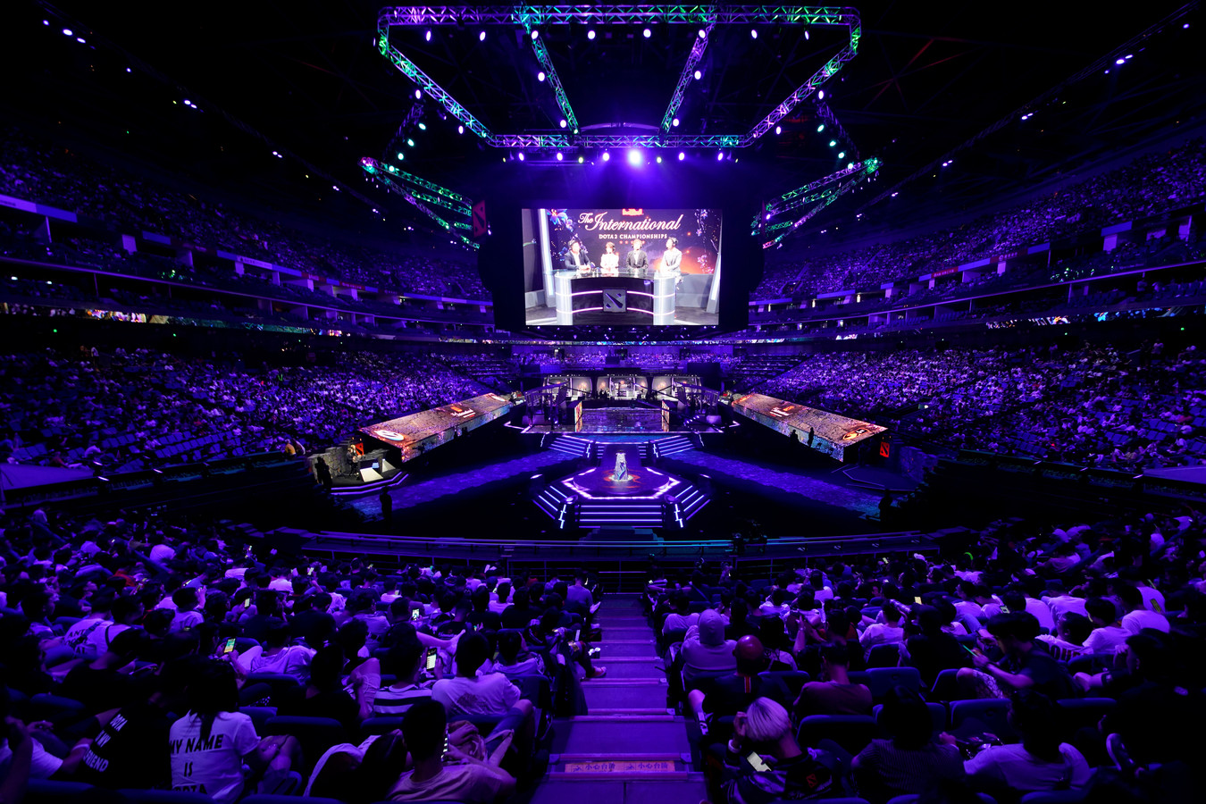 Het publiek tijdens een groot esports toernooi, 19 augustus in China.